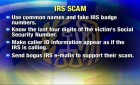 IRS Telephone Scams